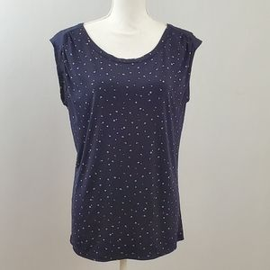 The Limited Navy Blouse